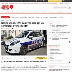"""Délinquance. 17% des Français ont un sentiment d'""""insécurité"""""""