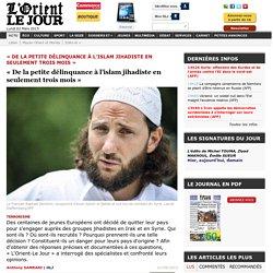 «De la petite délinquance à l'islam jihadiste en seulement trois mois» - Anthony SAMRANI