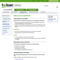 Delinquency and Default - FedLoan Servicing