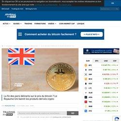 La fin des paris délirants sur le prix du bitcoin ? Le Royaume-Uni bannit les produits dérivés crypto