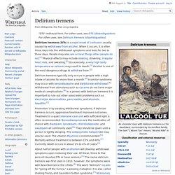 Delirium tremens - Wikipedia