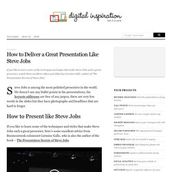 How to Deliver a Great Presentation Like Steve Jobs
