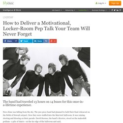 How to Deliver a Motivational Pep Talk to Your Team