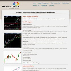 Daily Finance Tips Delivered Right to Your Inbox - Financial Focus Advisory Services, LLC