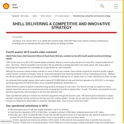 delivering a competitive and innovative strategy