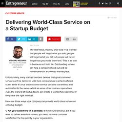 Delivering World-Class Service on a Startup Budget