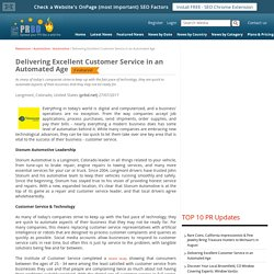 Delivering Excellent Customer Service in an Automated Age