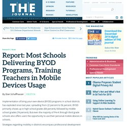 Report: Most Schools Delivering BYOD Programs, Training Teachers in Mobile Devices Usage
