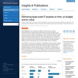 Delivering large-scale IT projects on time, on budget, and on value