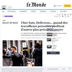 Uber Eats, Deliveroo… quand des travailleurs précaires profitent d'autres plus précaires encore