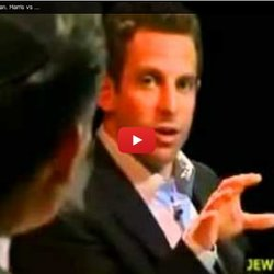 Sam Harris delivers like a comedian. Harris vs annoying Theist. Must see!