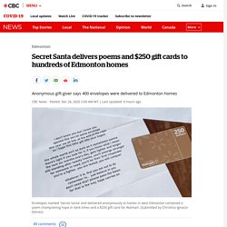 Secret Santa delivers poems and $250 gift cards to hundreds of Edmonton homes