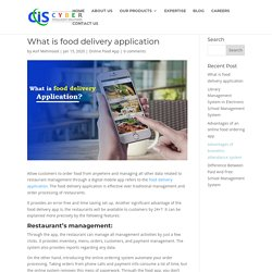 What is food delivery application - blog.cyberisol.com