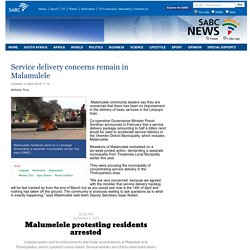 Service delivery concerns remain in Malamulele :Tuesday 14 April 2015