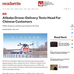 Alibaba China drone-based delivery system