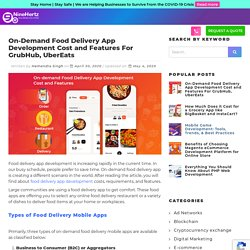 On-Demand Food Delivery App Development Cost and Features