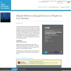 Digital Delivery of Legal Services to People on Low Incomes