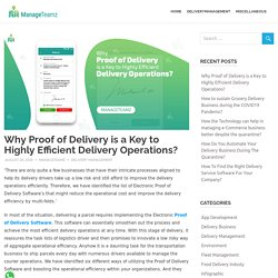 Why Proof of Delivery is a Key to Highly Efficient Delivery Operations?