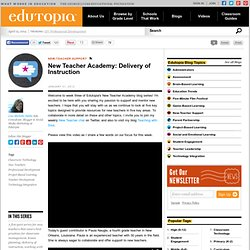 New Teacher Academy: Delivery of Instruction