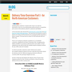 Delivery Time Overview Part I – for North American Customers