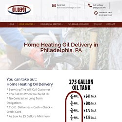 Heating Oil Delivery in Philadelphia, PA
