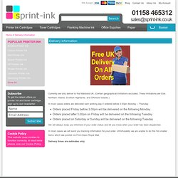 Free UK Delivery - Printer Ink and Toner Cartridges