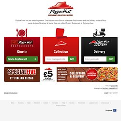 Pizza Hut - Order Online | Find nearest Restaurant