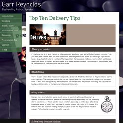 Garr Reynolds Official Site
