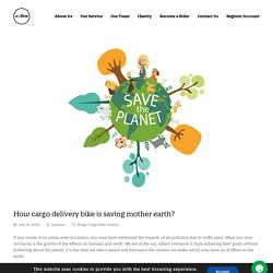 How cargo delivery bike is saving mother earth? - ecofleet