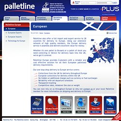 Europe delivery | Shipping & Delivery to Europe | Palletline