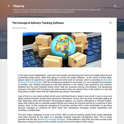 The Concept of Delivery Tracking Software