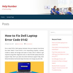 How to Fix Dell Laptop Error Code 0142 – Help Number