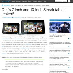 Dell's 7-inch and 10-inch Streak tablets leaked!