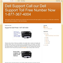 Support for Dell Printer 1-877-367-4004