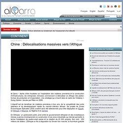Chine : Délocalisations massives vers l'Afrique - www.alqarratv.net