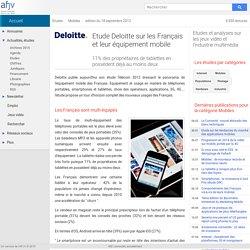 Etude Deloitte sur les Français et leur équipement mobile
