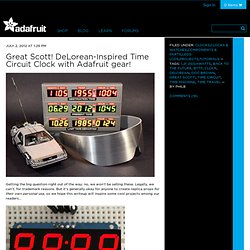 Great Scott! DeLorean-Inspired Time Circuit Clock with Adafruit gear!