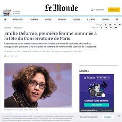 Emilie Delorme, première femme nommée à la tête du Conservatoire deParis