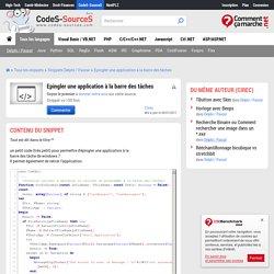Delphi / Pascal : Epingler une application à la barre des tâches