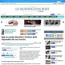 Delphine Brunet-Stoclet: Qui se cache derrière Twitter doit répondre de ses tweets