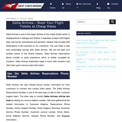 Delta Airlines - Book Your Flight Tickets at Cheap Rates