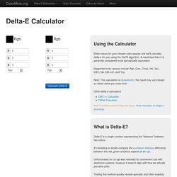 Delta-E Calculator - ColorMine.org