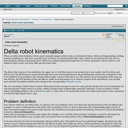 Delta robot kinematics - Tutorials