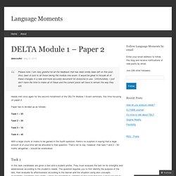 DELTA Module 1 – Paper 2