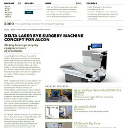 Delta Laser eye surgery machine concept