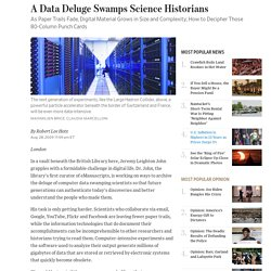 Data Deluge Swamps Science Historians