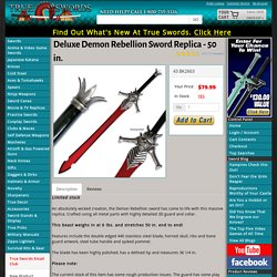 Deluxe Demon Rebellion Sword Replica - 50 in.
