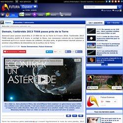 Demain, l'astéroïde 2013 TX68 passe près de la Terre