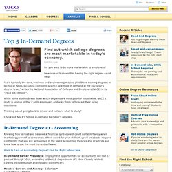 5 In-Demand Degrees