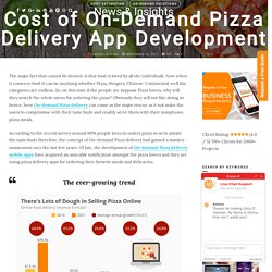 Cost of On-Demand Pizza Delivery Mobile App Development